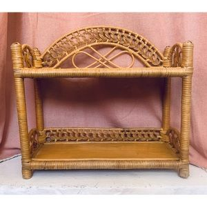 Vintage Wicker Rattan Shelf